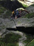 Rock Climbing Photo: Close up photo. Note the moss.