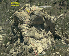 Rock Climbing Photo: Approximate descent route (at least the one we too...