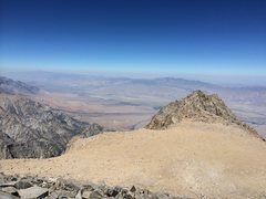Rock Climbing Photo: Looking back across the summit plateau from the ma...