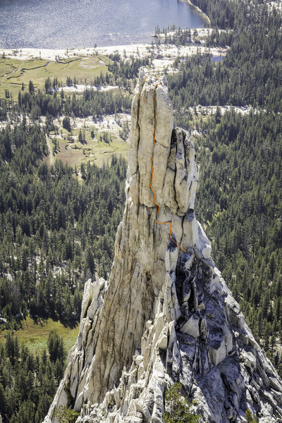 Center crack on the East Face of Eichorn Pinnacle