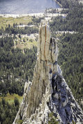 Rock Climbing Photo: Center crack on the East Face of Eichorn Pinnacle