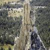 Center crack on the East Face of Eichorn Pinnacle