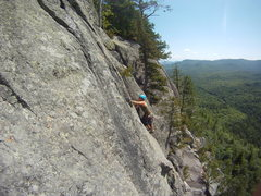 Rock Climbing Photo: Hurricane Crag - xenolith