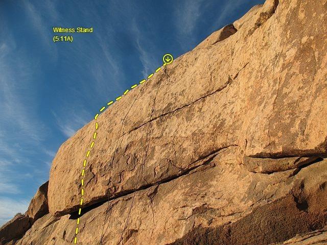 Rock Climbing Photo: Witness Stand (5.11a), Joshua Tree NP