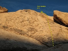 Rock Climbing Photo: Tim's Valentine (5.7), Joshua Tree NP