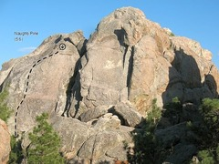 Rock Climbing Photo: Naughty Pine (5.6), Holcomb Valley Pinnacles