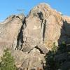 Rotgut (5.9), Holcomb Valley Pinnacles