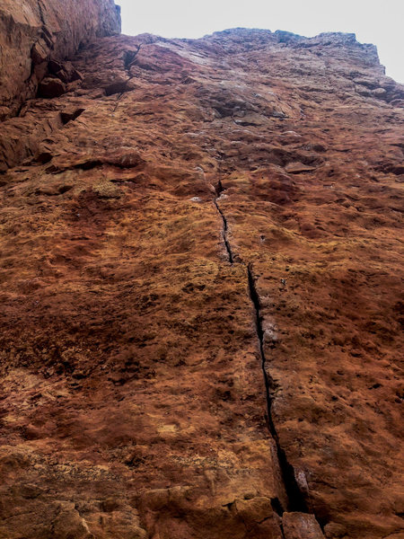 Rock Climbing Photo: Right up the Menses.