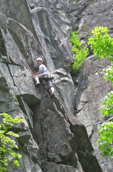 Rock Climbing Photo: Past the roof on History Book