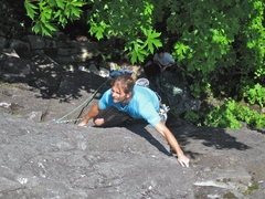 Rock Climbing Photo: Massaging the slopers