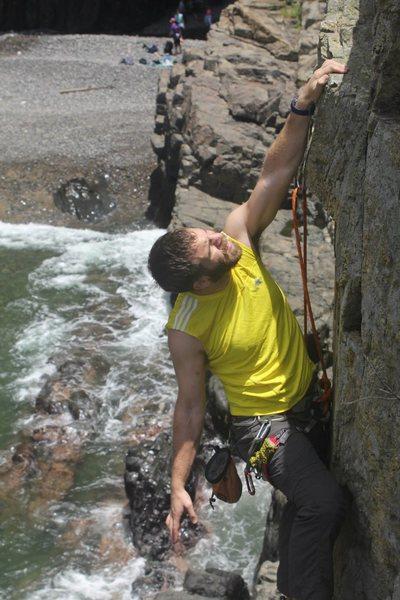 Rock Climbing Photo: Ian at the Zawn.