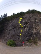 Rock Climbing Photo: Some drugs (5.9)