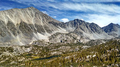 Rock Climbing Photo: Mt Morgan (South) + Little Lakes Peak + Rosy Finch...