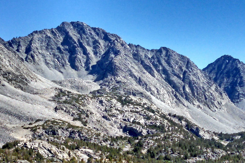 Rock Climbing Photo: Little Lakes Peak seen from NW