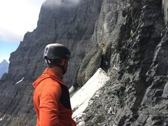 Rock Climbing Photo: Scott checking out the start of the Black Towers, ...