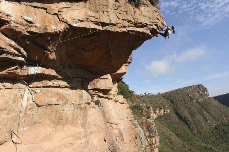 Rock Climbing Photo: gisely ferraz at fuego en la proa 5.13