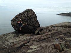 Rock Climbing Photo: After this shot I noticed a fun traverse problem d...