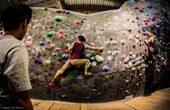 Rock Climbing Photo: Me climbing at my favourite gym: the Hive (in Vanc...