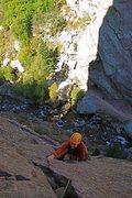 Rock Climbing Photo: Off the deck.