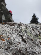 Rock Climbing Photo: mossy crap granite