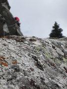 Rock Climbing Photo: mossy crap granite