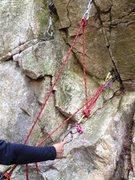 Rock Climbing Photo: Cordelette method in practice