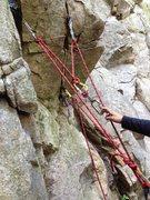 Rock Climbing Photo: Simply clove the third piece