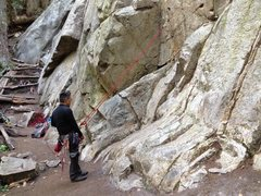 Rock Climbing Photo: Climb down protected by the munter clove to belay ...