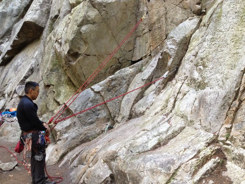 Loop the second piece and clove it to yr belay loop