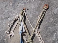 Rock Climbing Photo: p2 anchor