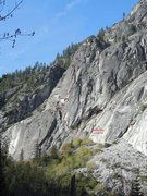 Rock Climbing Photo: Jericho wall as seen from the nature center bridge...