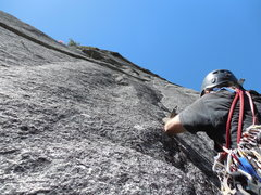 Rock Climbing Photo: Steve Bosque starting P5