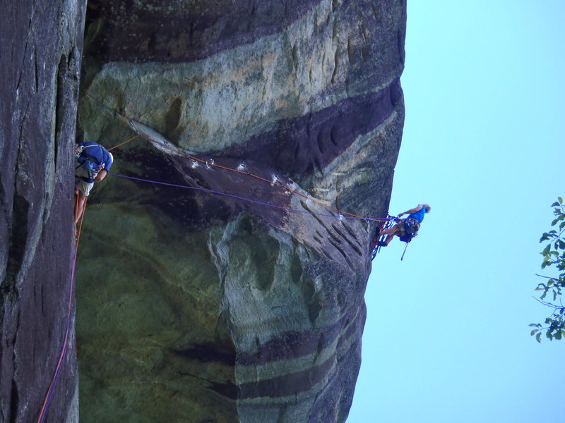 Rock Climbing Photo: Pitch Two- Route of Northern Aggression Sean Cobou...
