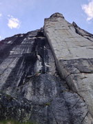 Rock Climbing Photo: The first real pitch, amazing corner and felt soft...