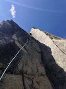 Rock Climbing Photo: BFK high up in the amazing corner pitch.
