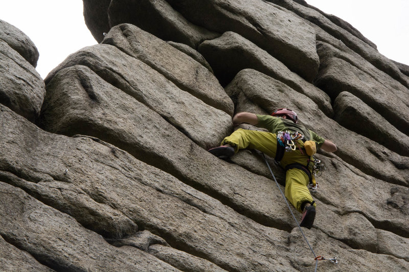 Rock Climbing Photo: Fichtelgebirge: Treppenstein - Westwand 5.10 a/b