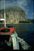 Rock Climbing Photo: Motoring into the bay for the first time in 1994 a...