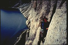 Rock Climbing Photo: Karin Bates Terravecchia on pitch 4 of Dead Reckon...