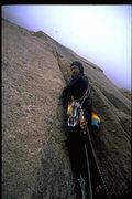 Rock Climbing Photo: Joe T on the 1st ascent of Janorah.
