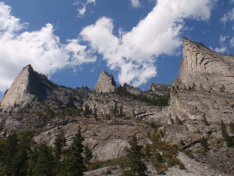 Nez Perce and Shoshone Spire, Flathead Buttress