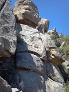 Rock Climbing Photo: Upper portion of Sleeping Cactus Wall, right of ML...
