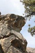 Rock Climbing Photo: Going for the anchors on Smackdown (5.8), Holcomb ...