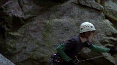 Rock Climbing Photo: Can you believe it?  He tries to catch the fall