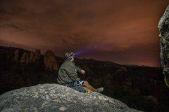 Rock Climbing Photo: Mark Rafferty night climbing on Second Hand Rose
