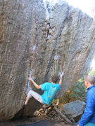 Rock Climbing Photo: Aaron wait, figures out the moves on the mega-clas...