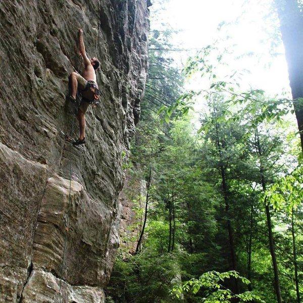 Rock Climbing Photo: Astrodog, Red River Gorge, 12c