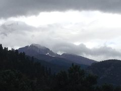Rock Climbing Photo: Long's Peak and the Diamond yesterday before anoth...