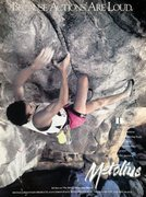 Rock Climbing Photo: Metolius ad with Jim Karn on The Heretic (5.13b), ...