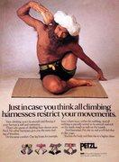 Rock Climbing Photo: Petzl harness ad (1991)