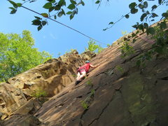 Rock Climbing Photo: Todd feeds the cat.